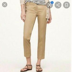 J.crew cropped chino tan pants